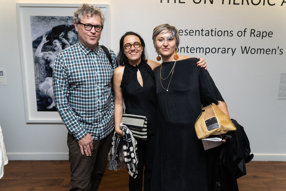 Jay Scheib, Monika Fabijanska, Christine Clifford. The Un-Heroic-Act opening. Photo Austin Pogrob