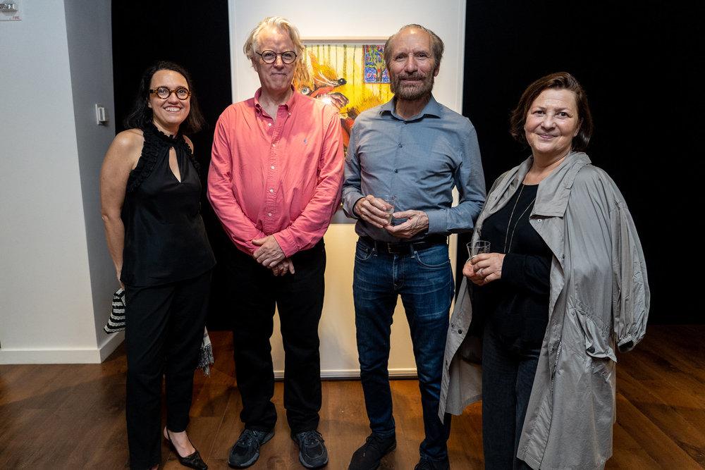 Monika Fabijanska, Bill Pangburn, Richard Vine, Anna Baumritter. The Un-Heroic-Act opening. Photo Austin Pogrob
