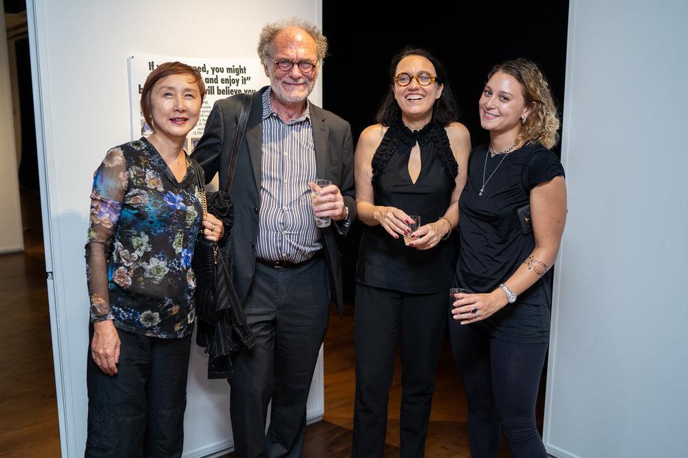 Michelle Y. Loh, Jerzy Warman, Monika Fabijanska, Katie Hector. The Un-Heroic-Act opening. Photo Austin Pogrob
