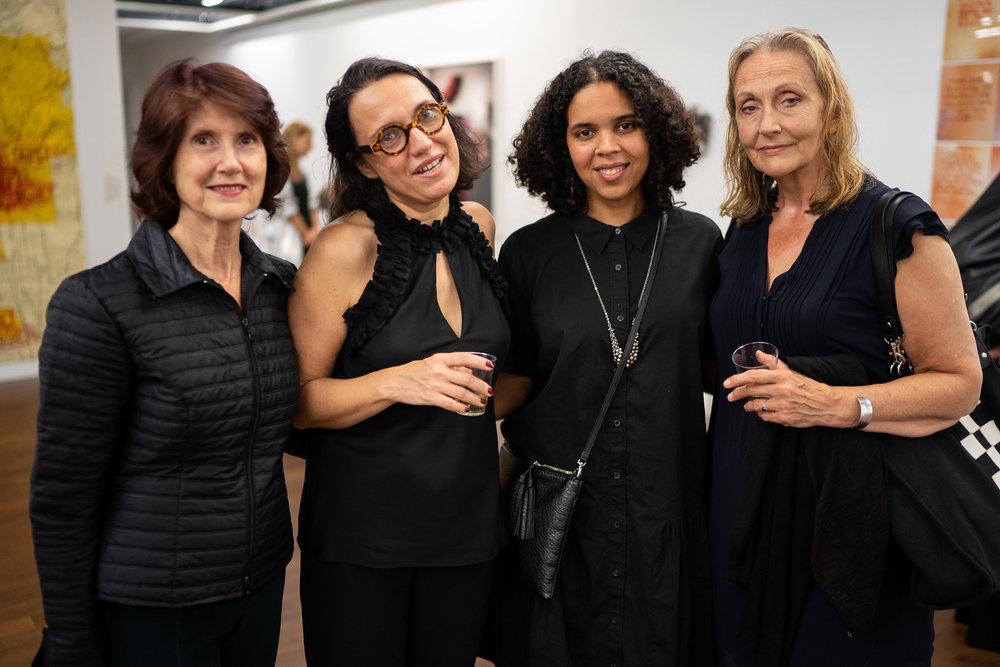 Betty Beaumont, Monika Fabijanska, Joiri Minaya, Kasia Zarebska. The Un-Heroic-Act opening. Photo Austin Pogrob
