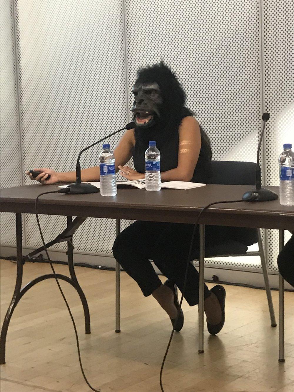 Zubeida Agha of Guerrilla Girls__The Un-Heroic Act_Symposium_Oct. 3 2018. Photo Monika Fabijanska