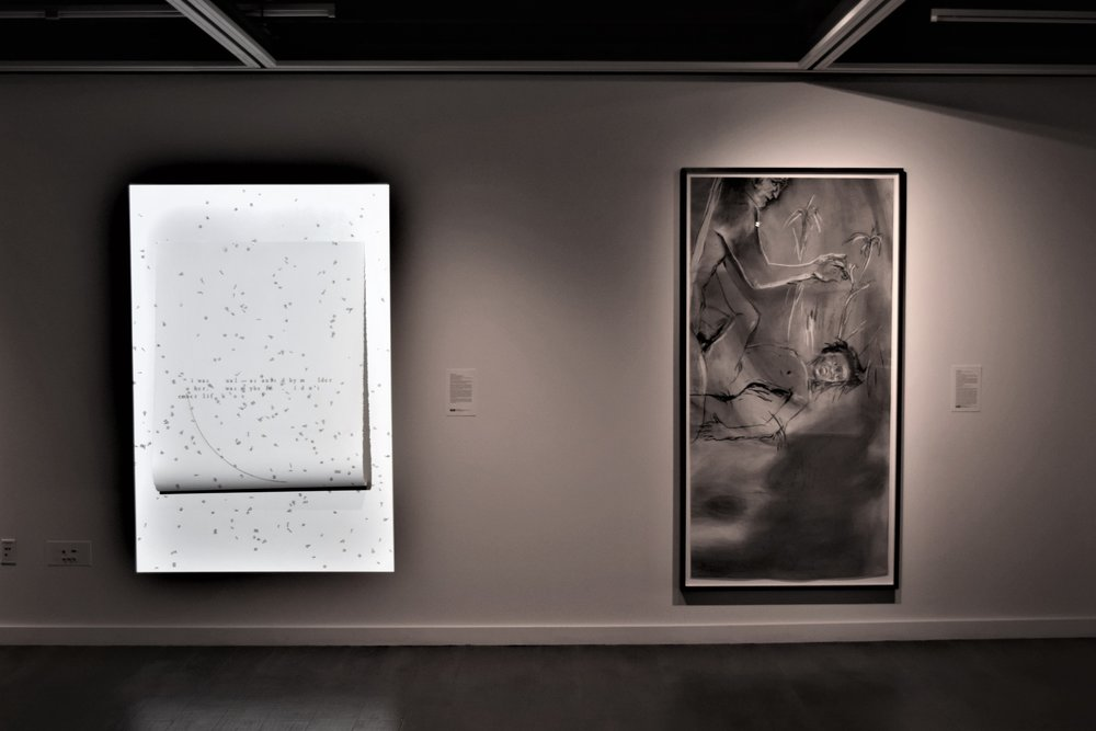 36_Works by Bang Geul Han and Kara Walker, installation view, The Un-Heroic Act, Shiva Gallery JJC. Photo Bill Pangburn