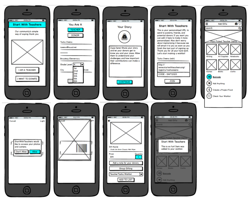 Low Fidelity Clickable Prototype with Balsamiq