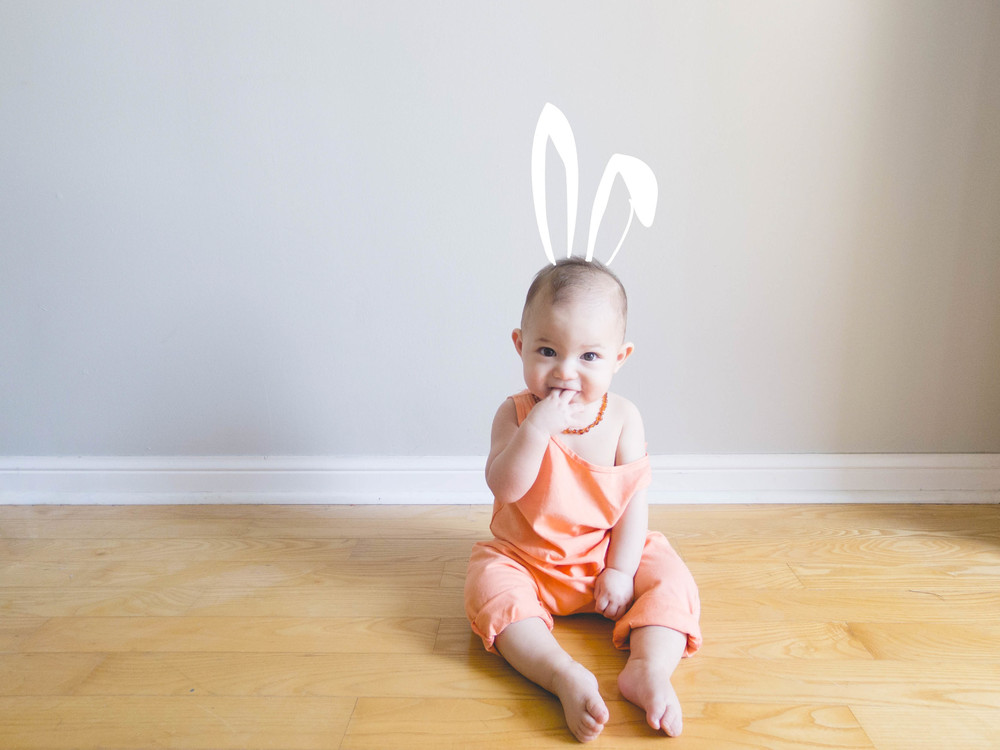 easter baby portrait
