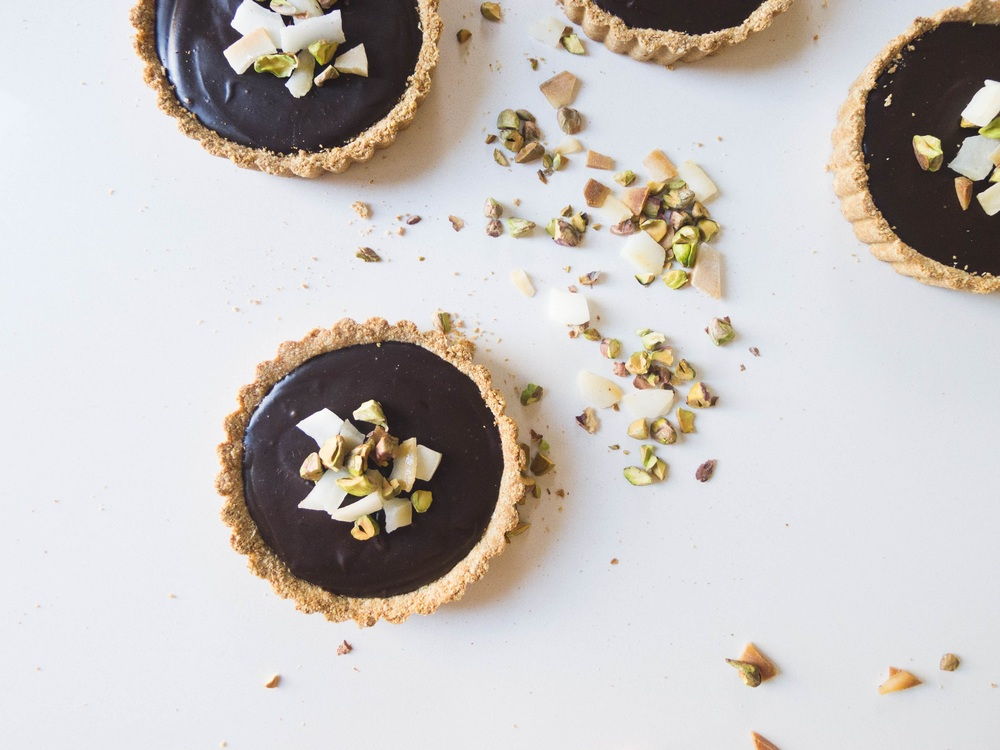 Coconut + Chocolate Mini Tarts