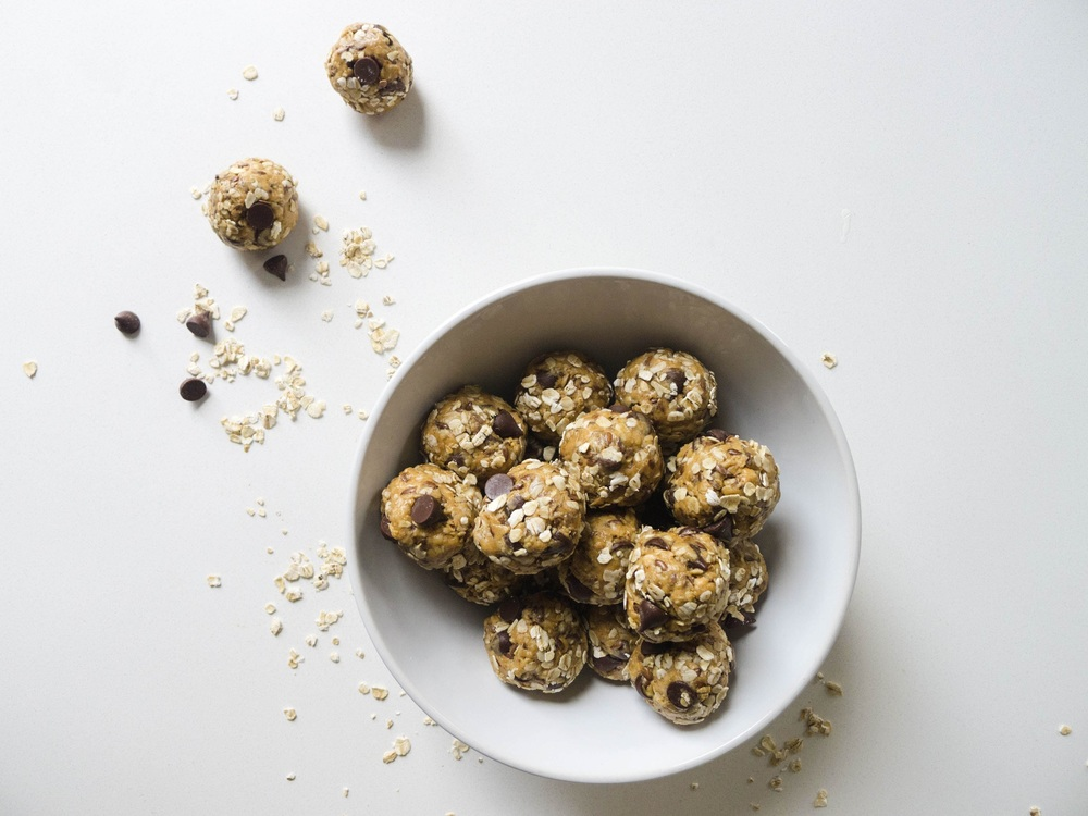 Peanut Butter + Chocolate Chip Energy Bites