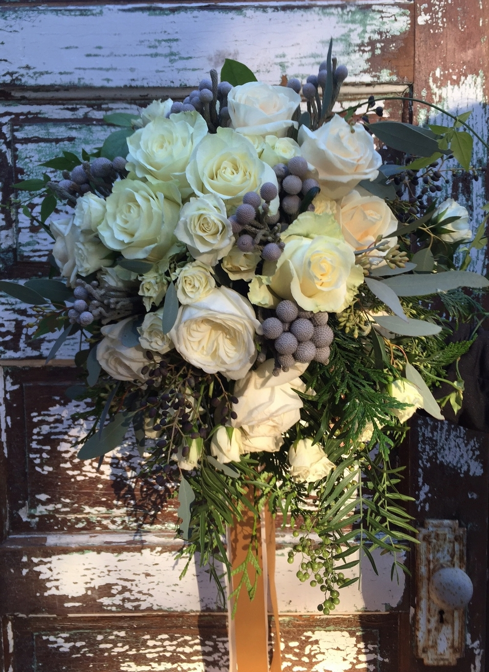 Winter white bridal bouquet
