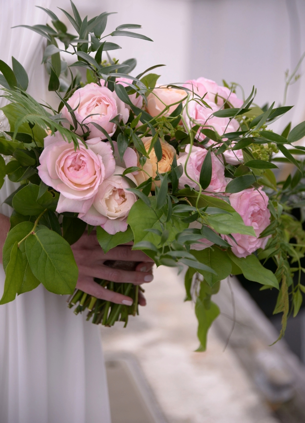 Natural & romantic bridal bouquet - Paul Dudley Photography