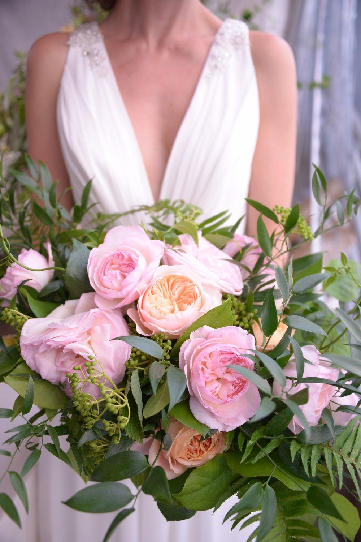 Bridal bouquet David Austin Roses - Paul Dudley Photography