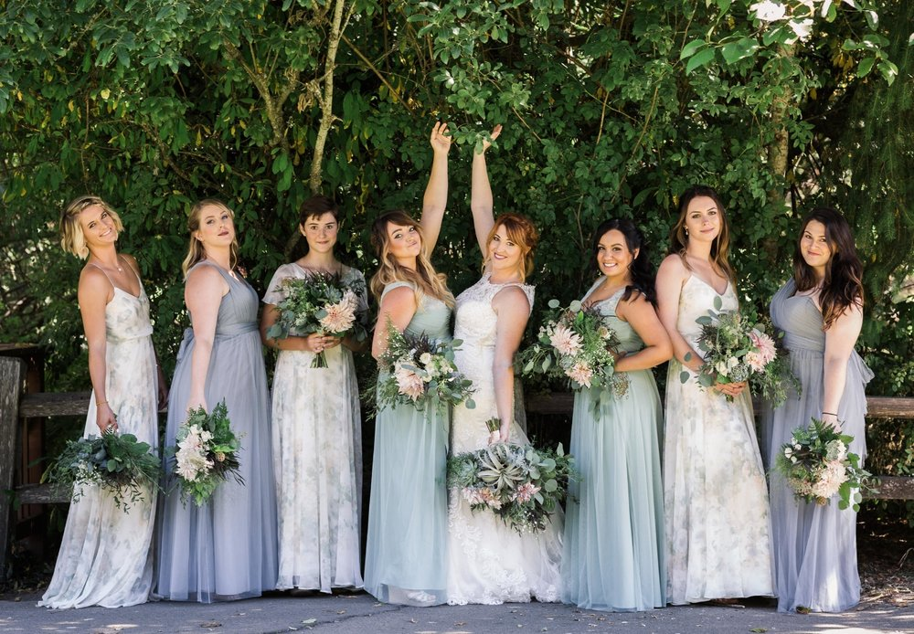 Dahlia & succulent bouquets Amy Galbraith Photography