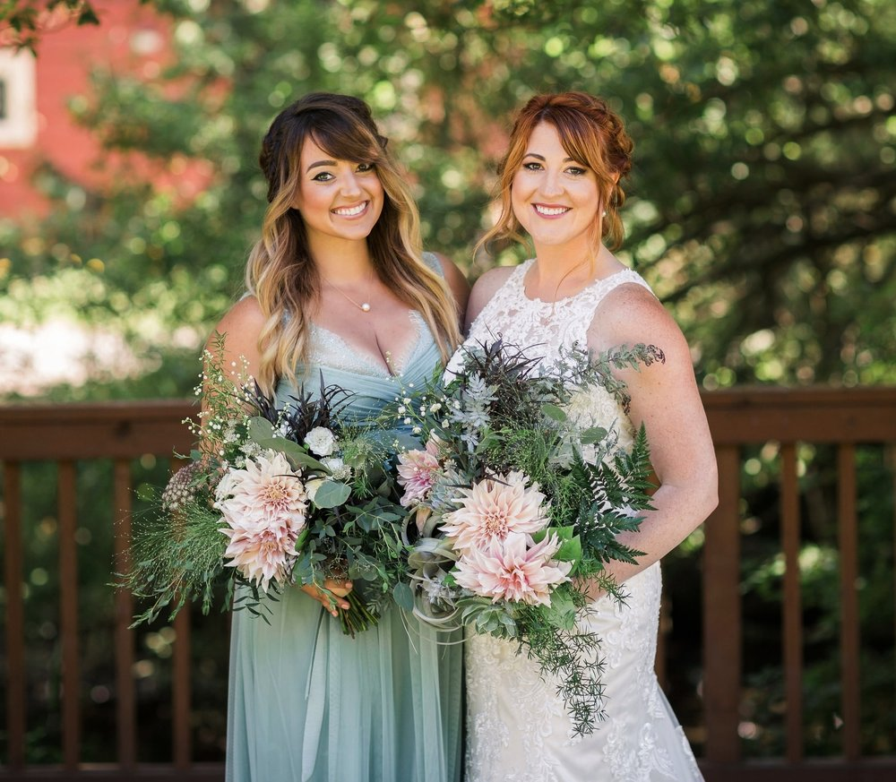 Bride & Maid-of-honor-Amy Galbraith Photography