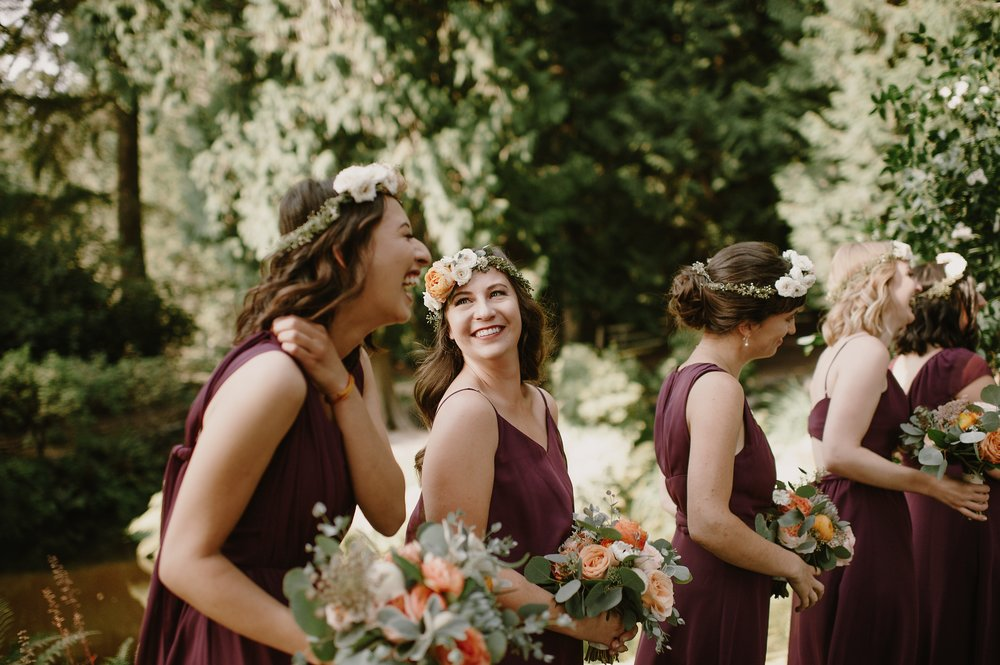 Bridesmaids with flower crowns-Photo by Kristen Marie Parker