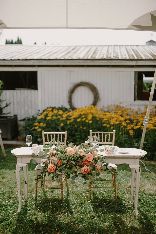 Sweetheart table-Photo by Kristen Marie Parker