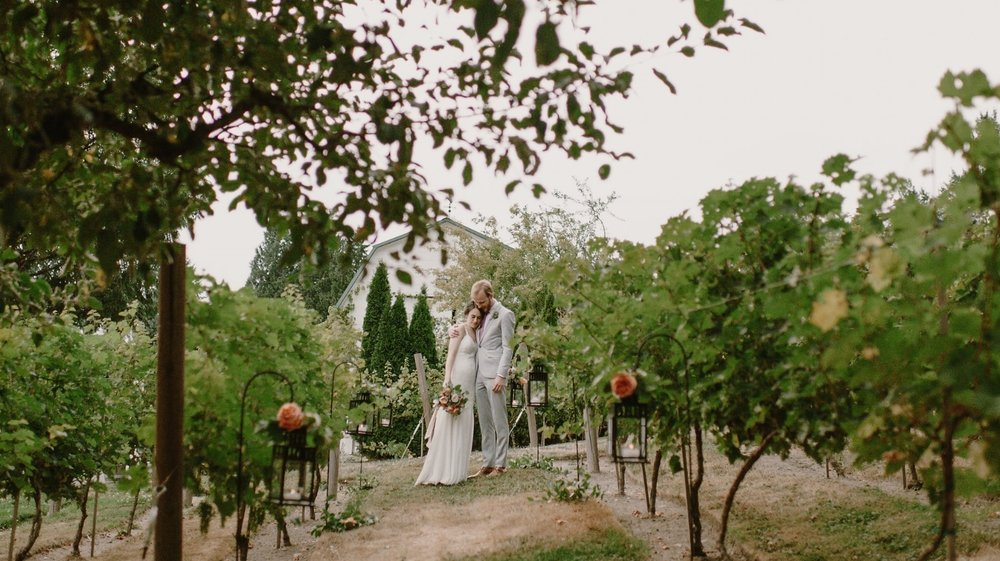 Winery wedding lantern path-Photo by Kristen Marie Parker