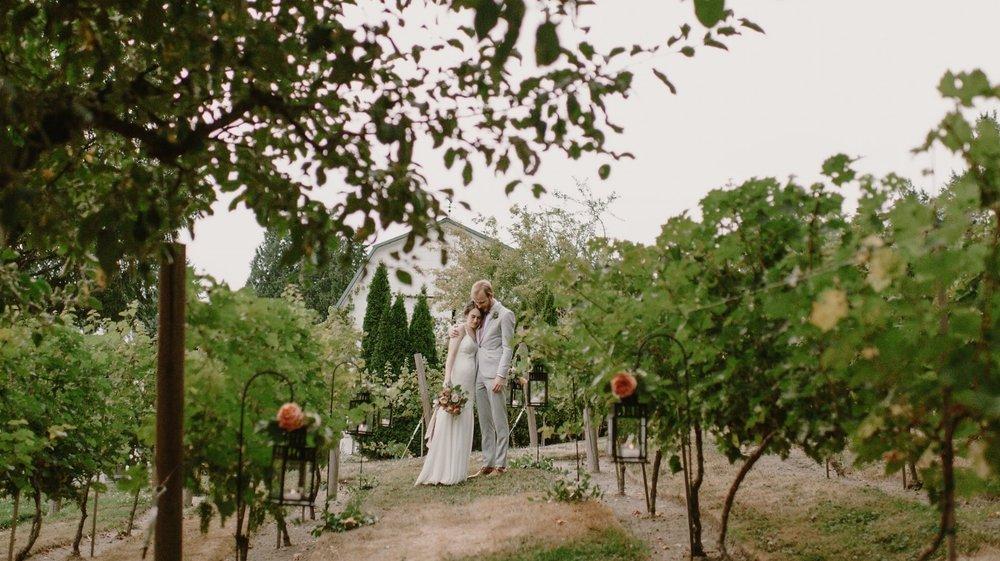 Winery wedding lantern path-Photo by Kristen Marie Parker