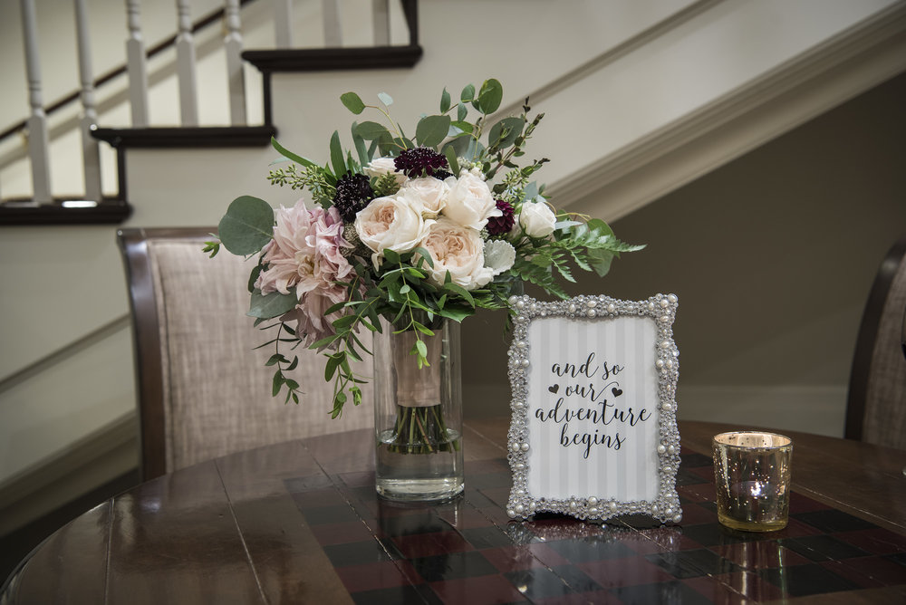 Welcome table-blush & plum-IJ Photo