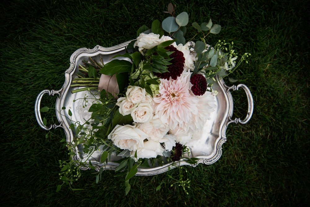 Blush and plum garden roses-IJ Photo
