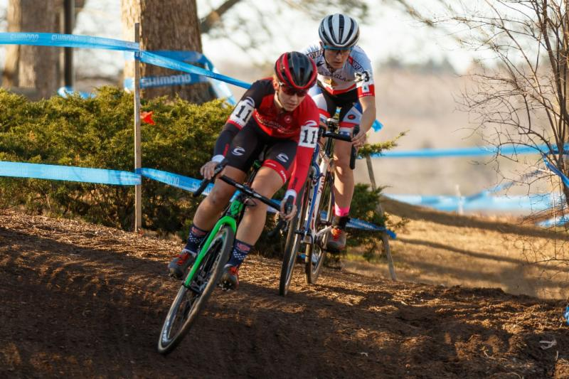 Emma White and Ellen Noble battle it out at the 2015 NBX Gran Prix. NBX will serve as the grand finale of the 2016 Vittoria NECXS.