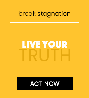 self expression. break stagnation. live your truth. click here to act now.