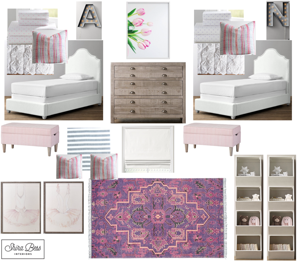 Chicago Girl Twins' Room - Final Design
