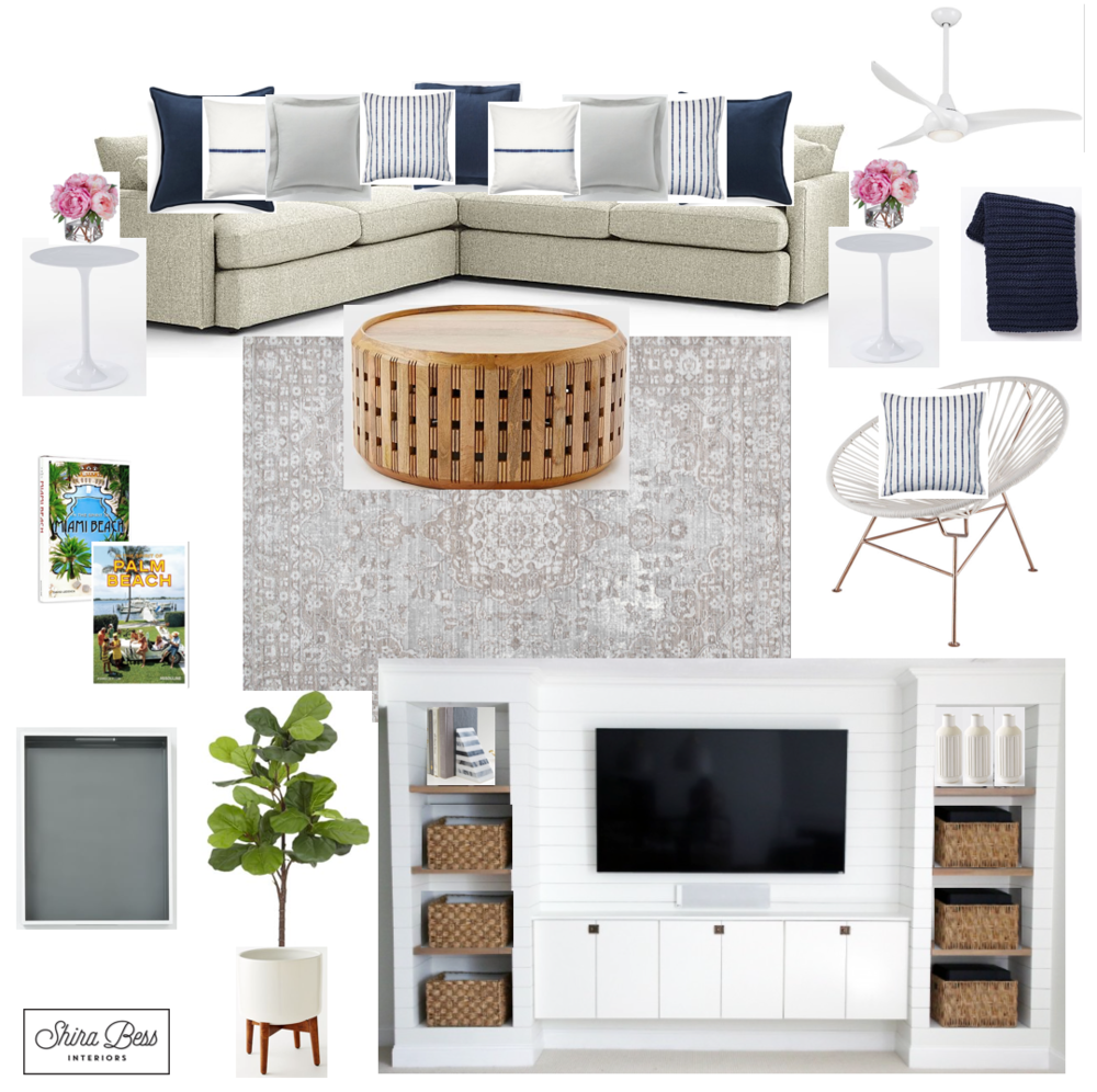 Delray Family Room - Final Design