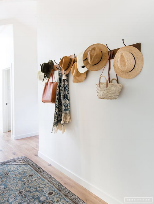Decorating With Straw Hats Bags Shira Bess Interiors