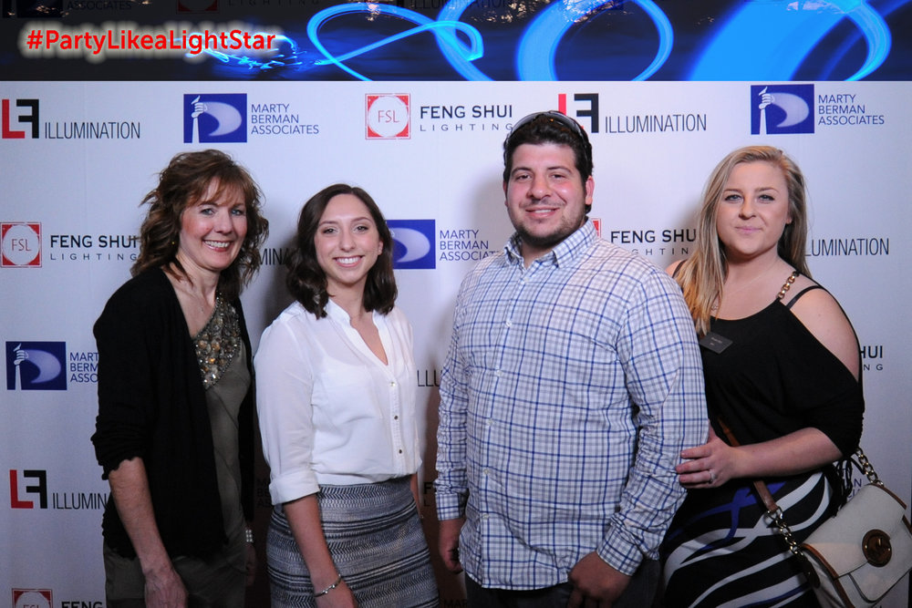 Lisa Cassel (Feng Shui Lighting), Brittany Barr (Feng Shui Lighting), Nick Eadeh (Eadeh Flooring), Brooke Deily (Marty Berman Associates)