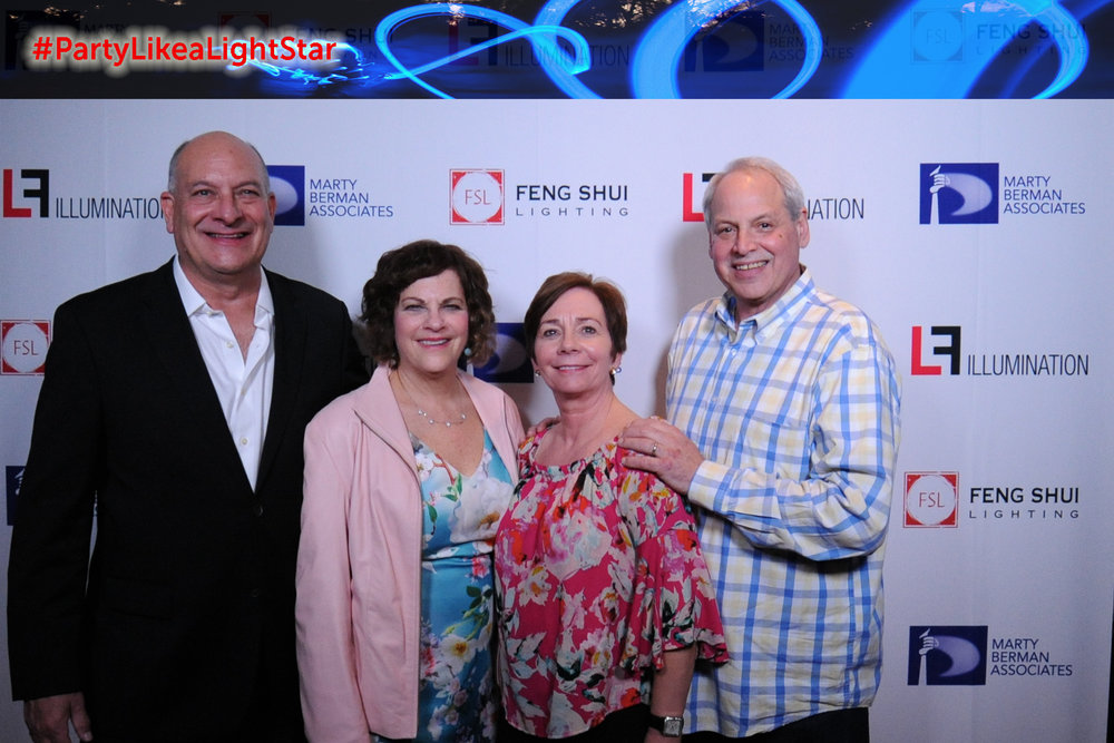 Larry Berman (Feng Shui Lighting), Laurie Berman, Beth Hirshenhorn, Steve Hirsenhorn (Marty Berman Associates)