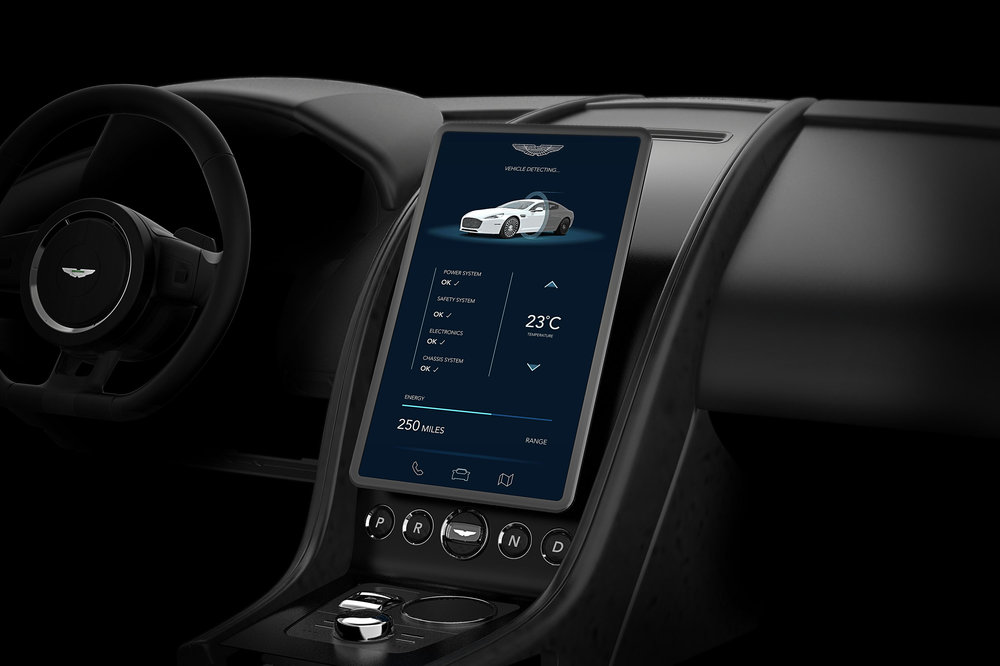 Aston Martin Front View Interior Design