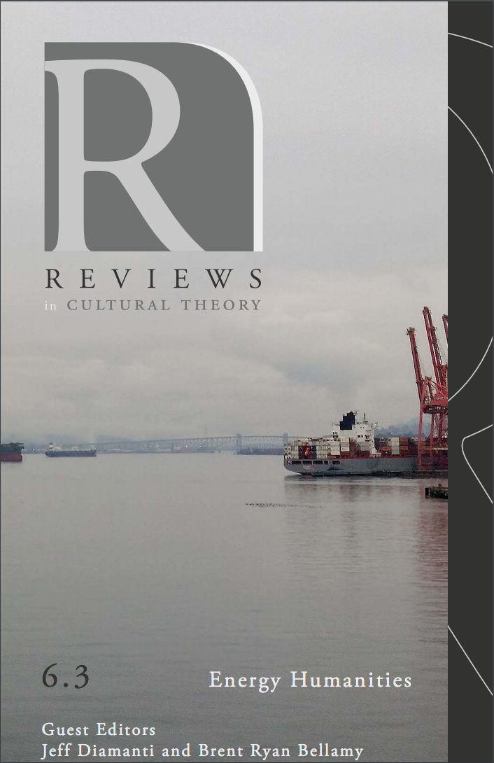Reviews in Cultural Theory 6.3 (March 2016)