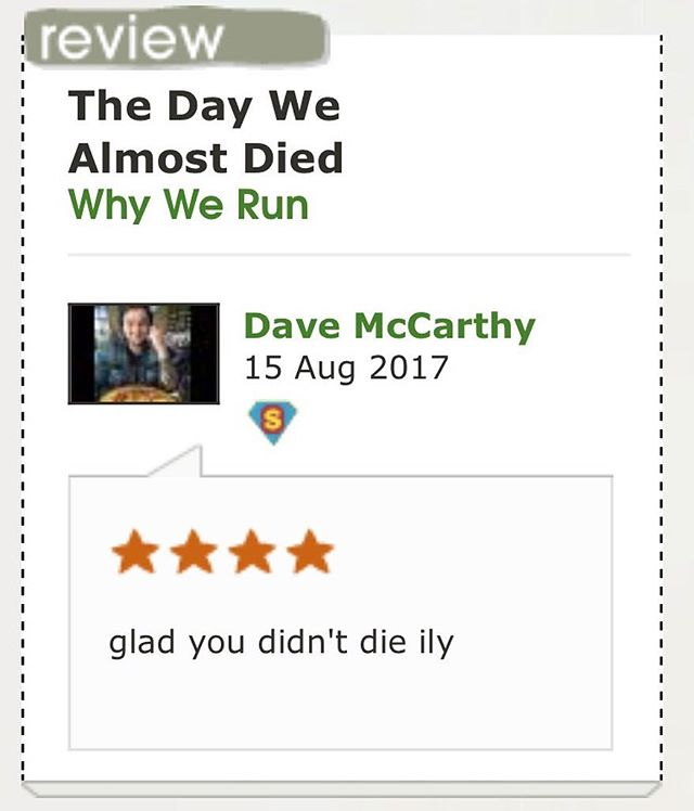 Pls don't jinx our lives Dave.  Head to @triple_j_unearthed to grab our new song for free or leave your own review.