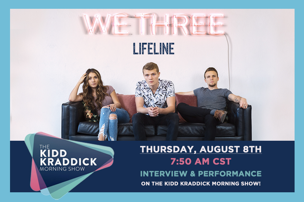 WE THREE PERFORMANCE AND INTERVIEW ON THE KIDD KRADDICK