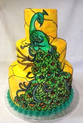 wedding cake-peacock stained glass.jpg