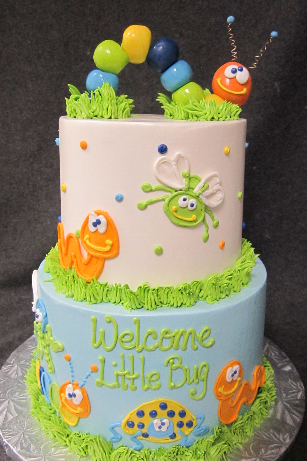 little bug two tiered cake - Copy - Copy - Copy.jpg