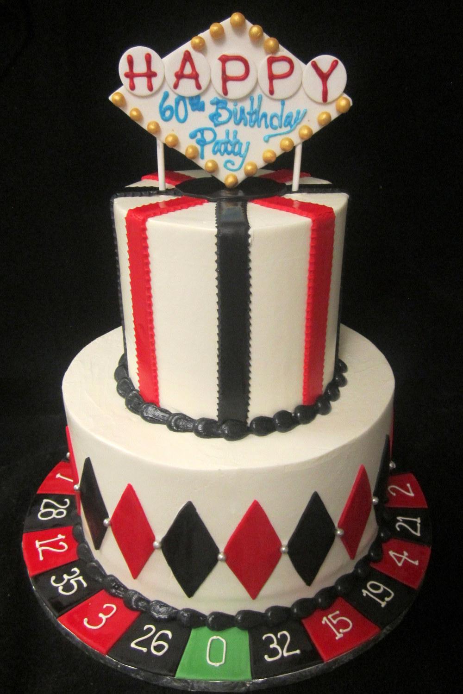 vegas cake with roulette wheel.JPG