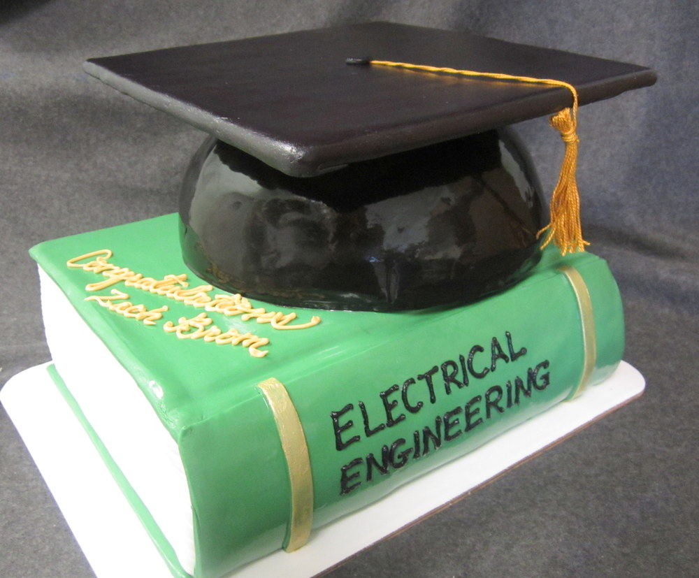 green book and grad cap cake.jpg