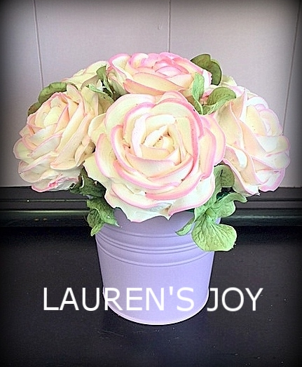 pastel planter with pink tipped roses.JPG