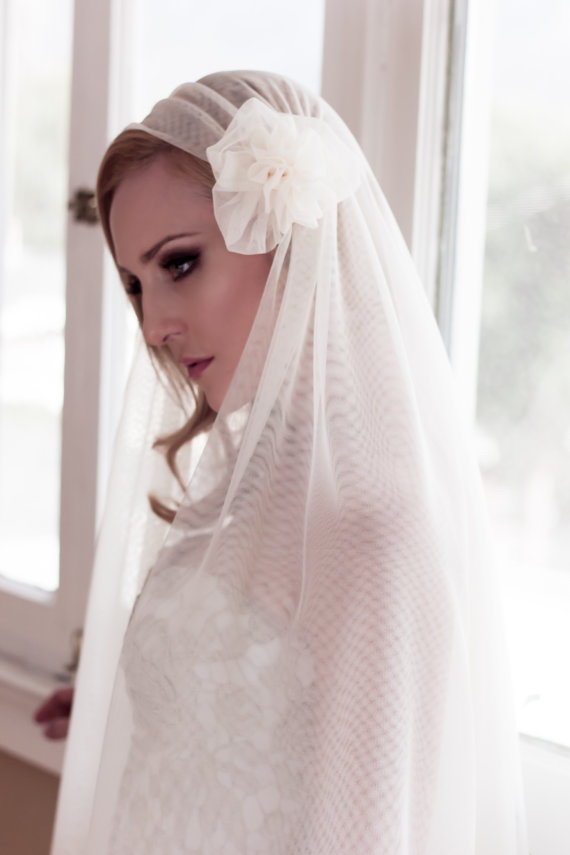 Makeup by Katelyn Galloway  Hair by Ruth Tedmori  Veil and Photography by Kathy Banner of www.VeiledBeauty.com