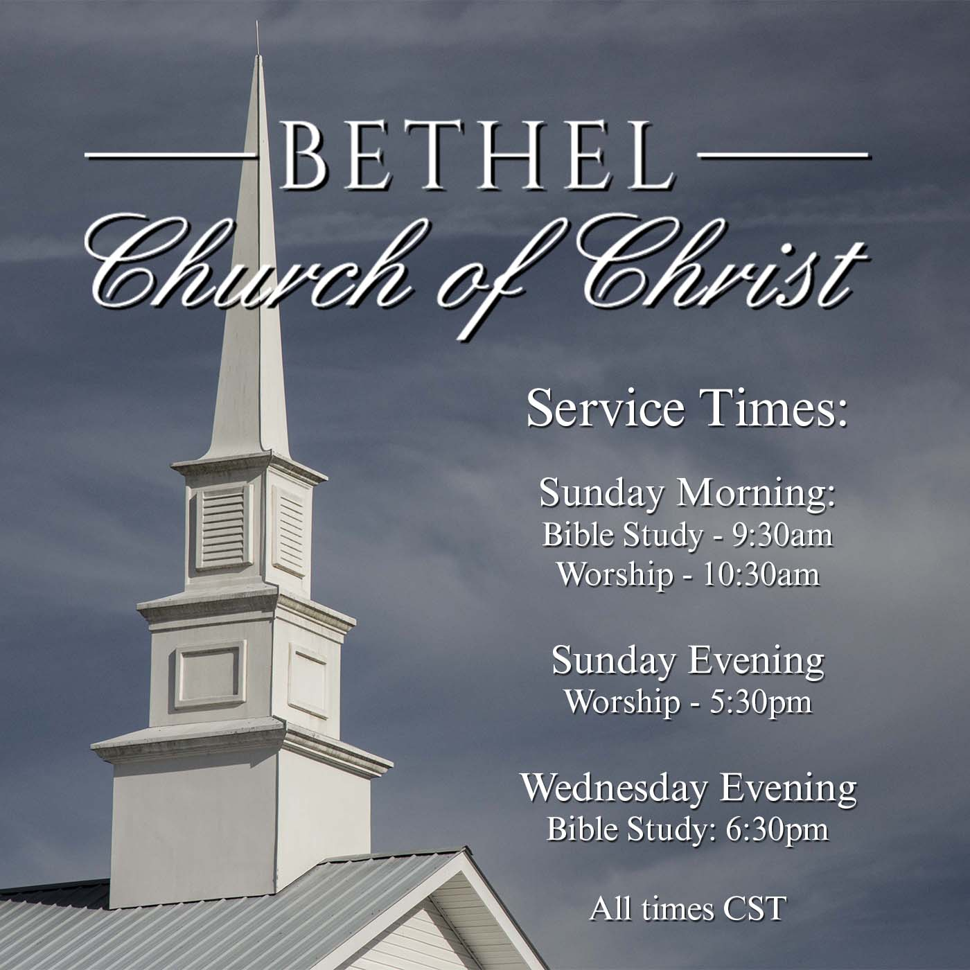 Sermons - Bethel Church Of Christ