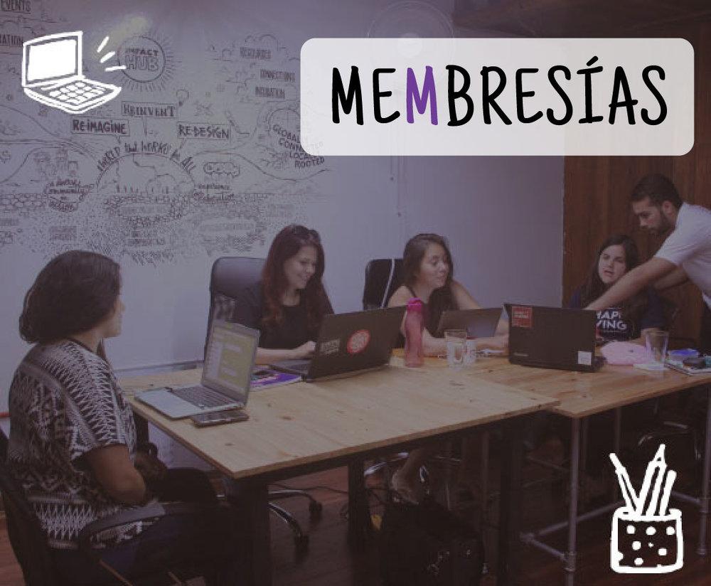 Podés trabajar en espacios colaborativos basados en la creatividad y la innovación social