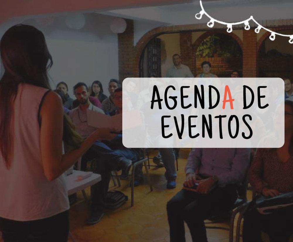 Tenemos una agenda mensual de eventos donde podrás aprender de diferentes temas y aumentar tu red de contactos