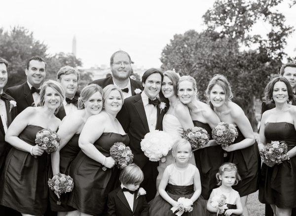 bridal party at decatur house wedding