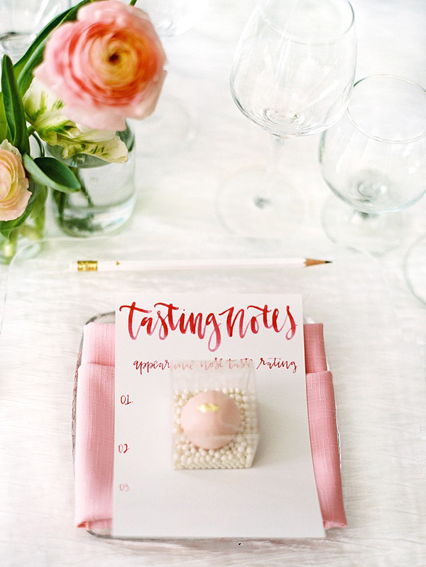 rose tasting notes for bridal shower