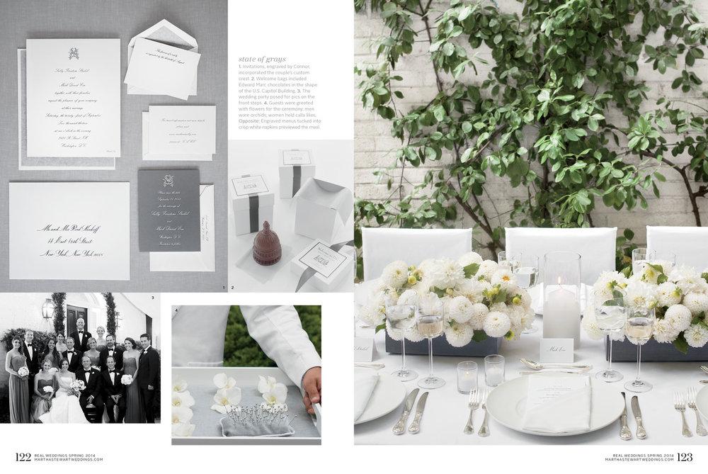 grey and white wedding in washington dc