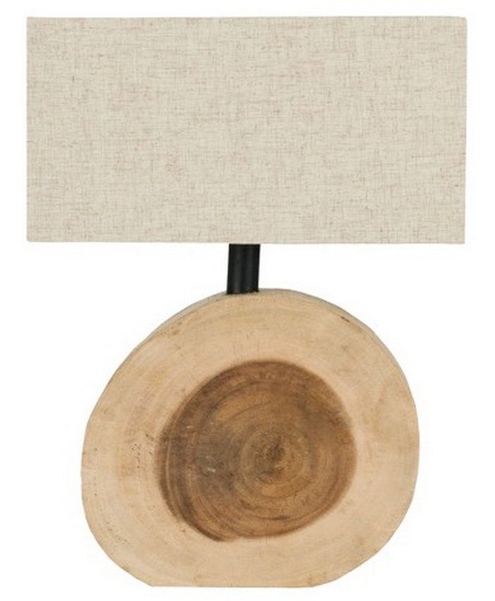 Wood Table Lamp by Safavieh