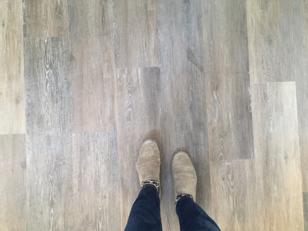 Process // Really loving the warm gray wood floor