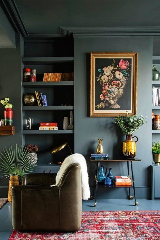 Trend Alert Dark Green Walls