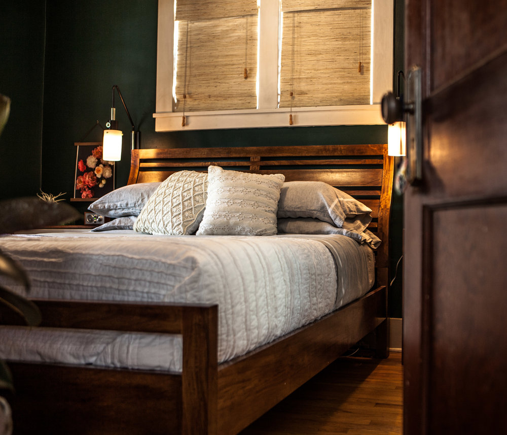 Our Moody, Romantic (& Affordable) Bedroom Makeover  |  www.studio7creative.co
