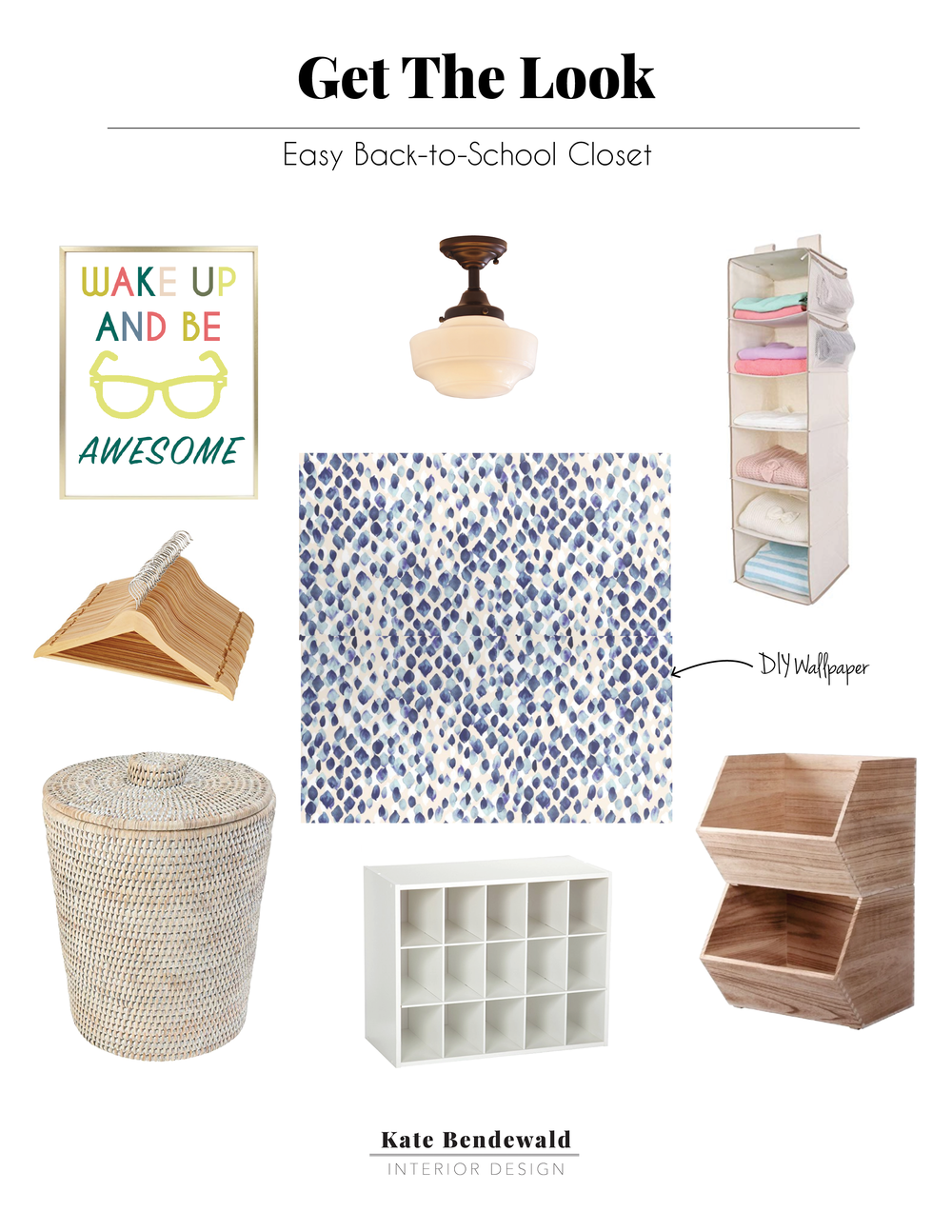 Kate Bendewald Interior designer blogger Austin Waco Texas Kids Closet organization