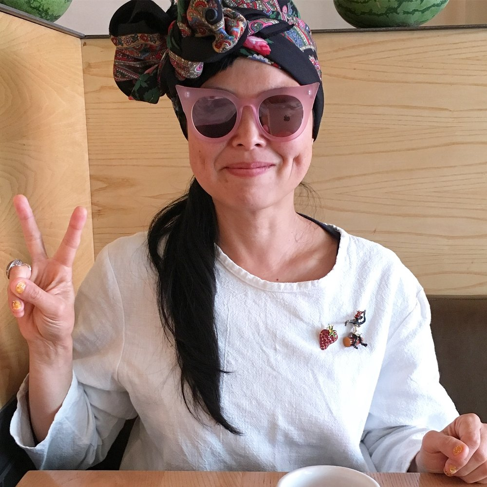 Yuka Maud designer at Otsu ai fashion interview coffee conversation with James Butters at Loretta.jpg